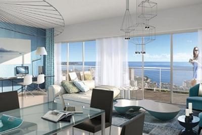 Appartement à vendre à BEAUSOLEIL  - 2 pièces - 63 m²