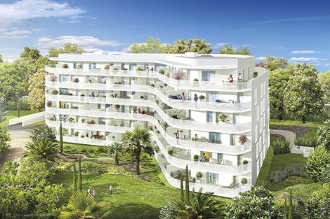 New development In the midst of listed woodland in Marseille 9