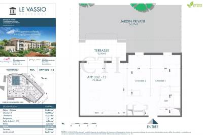 - 3 rooms - 72 m²