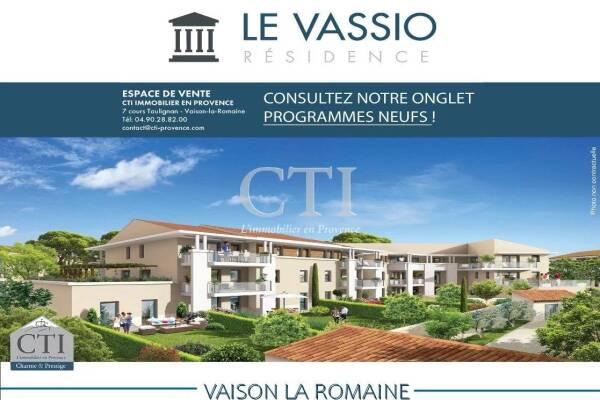 VAISON-LA-ROMAINE - Annonce Appartement à vendre3 pièces - 66 m²